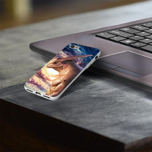 Чехол для Apple iPhone 8 силиконовый глянцевый  Фото 03, Пришелец