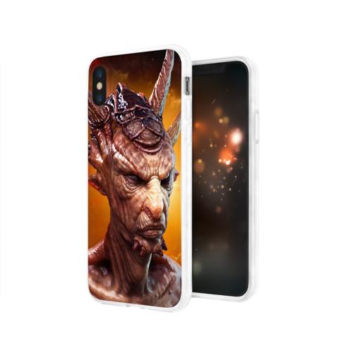 Чехол для Apple iPhone X силиконовый глянцевый  Фото 03, Пришелец