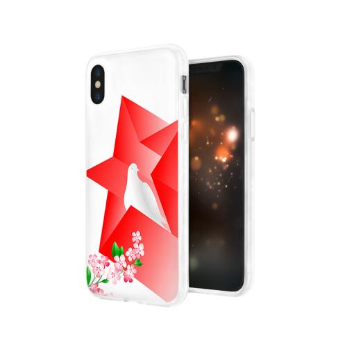 Чехол для Apple iPhone X силиконовый глянцевый  Фото 03, День победы 1