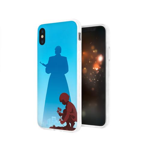 Чехол для Apple iPhone X силиконовый глянцевый  Фото 03, День победы 5