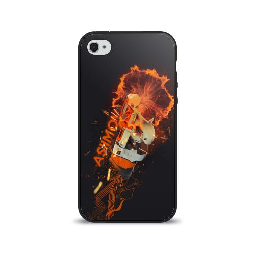 Чехол для Apple iPhone 4/4S силиконовый глянцевый Asiimov от Всемайки