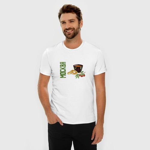 Мужская футболка хлопок Slim Москва. Чаепитие Фото 01