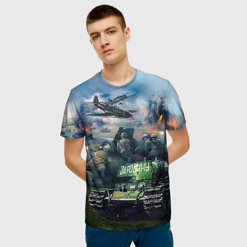 Мужская футболка 3D За родину Фото 01