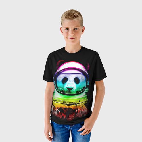 Детская футболка 3D Панда космонавт