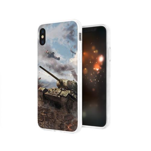 Чехол для Apple iPhone X силиконовый глянцевый  Фото 03, Наступление