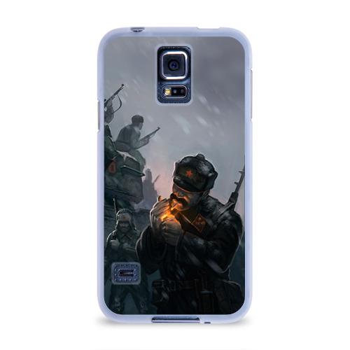 Чехол для Samsung Galaxy S5 силиконовый  Фото 01, Солдаты