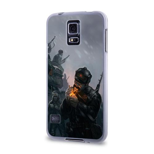 Чехол для Samsung Galaxy S5 силиконовый  Фото 03, Солдаты