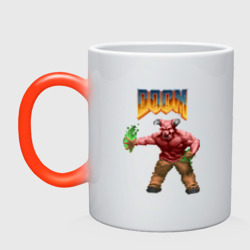 Минотавр (Doom) пиксель-арт