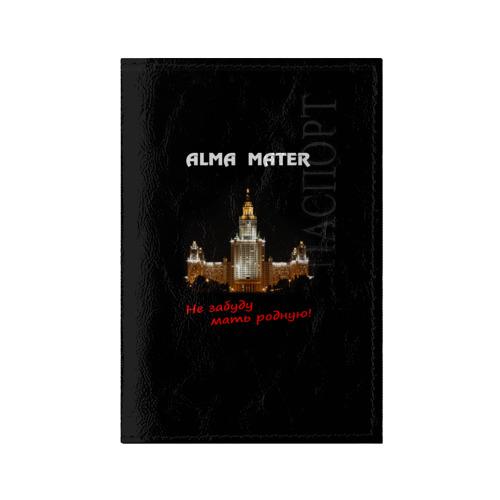 Обложка для паспорта глянцевая кожа МГУ alma mater