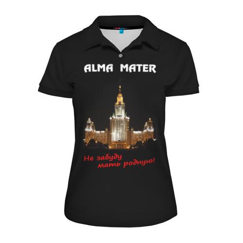 Женская рубашка поло 3D МГУ alma mater