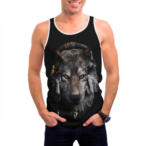 Мужская майка 3D  Фото 03, Волк