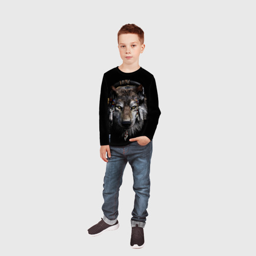 Детский лонгслив 3D  Фото 05, Волк