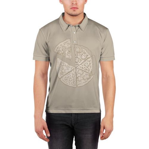 Мужская рубашка поло 3D  Фото 03, Пицца