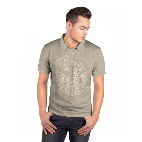 Мужская рубашка поло 3D  Фото 05, Пицца