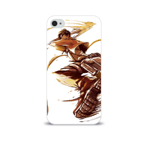Чехол для Apple iPhone 4/4S soft-touch  Фото 01, Attack on Titan - Eren Jaeger