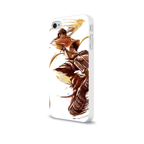 Чехол для Apple iPhone 4/4S soft-touch  Фото 03, Attack on Titan - Eren Jaeger