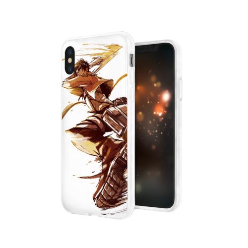 Чехол для Apple iPhone X силиконовый глянцевый  Фото 03, Attack on Titan - Eren Jaeger