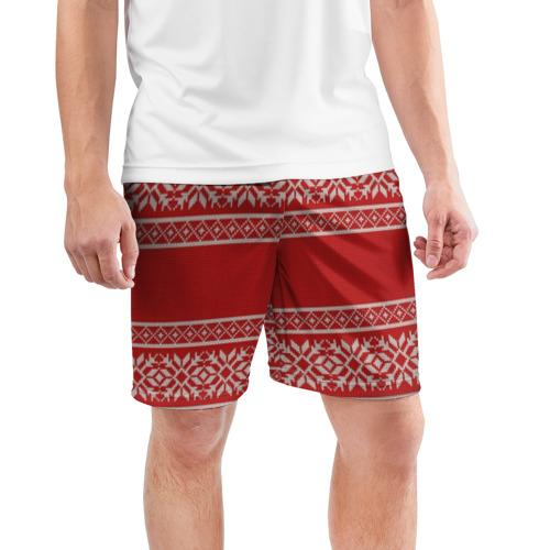 Мужские шорты 3D спортивные  Фото 03, Вязанный принт