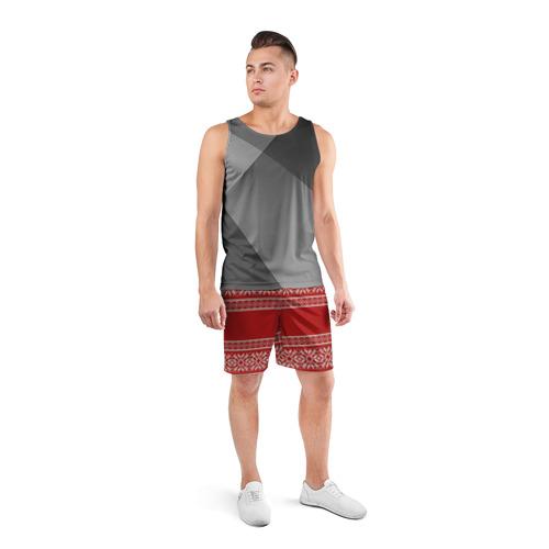 Мужские шорты 3D спортивные  Фото 04, Вязанный принт