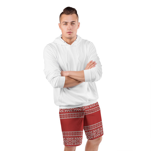 Мужские шорты 3D спортивные  Фото 05, Вязанный принт