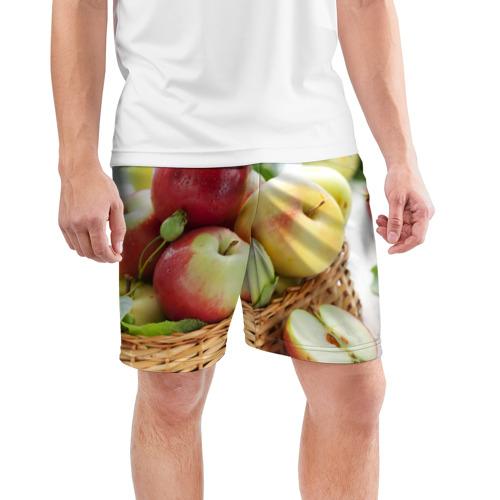 Мужские шорты 3D спортивные  Фото 03, Яблоки