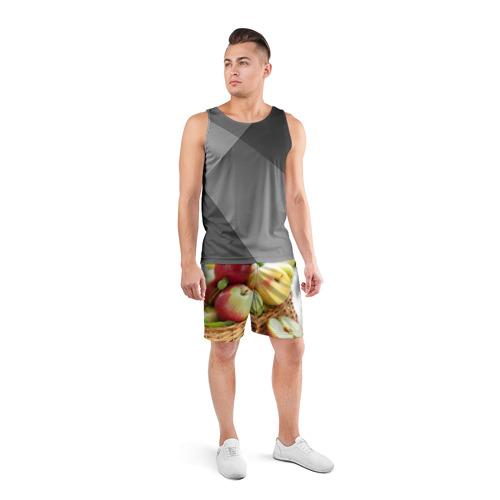 Мужские шорты 3D спортивные  Фото 04, Яблоки
