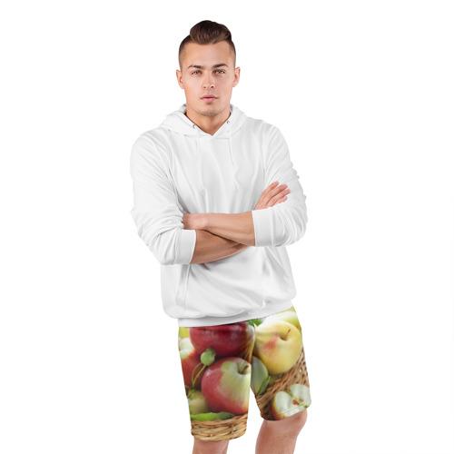 Мужские шорты 3D спортивные  Фото 05, Яблоки