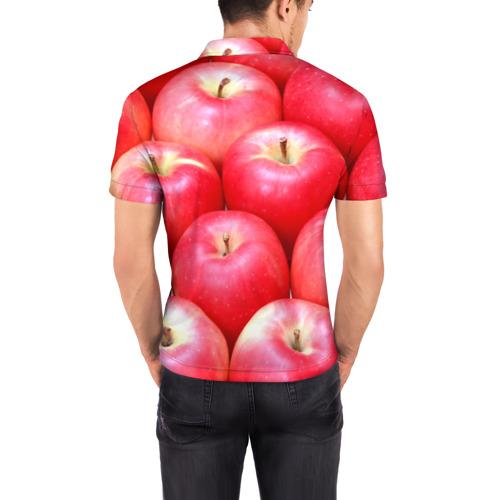 Мужская рубашка поло 3D  Фото 04, Яблоки