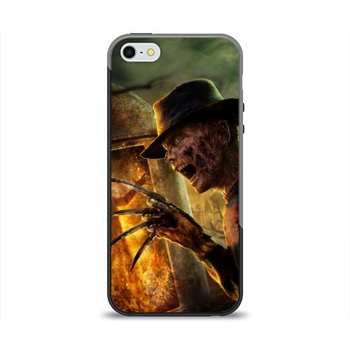 Чехол силиконовый глянцевый для Телефон Apple iPhone 5/5S Фредди Крюгер от Всемайки