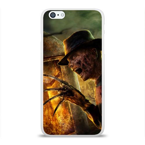 Чехол для Apple iPhone 6Plus/6SPlus силиконовый глянцевый  Фото 01, Фредди Крюгер