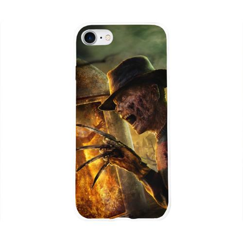 Чехол для Apple iPhone 8 силиконовый глянцевый  Фото 01, Фредди Крюгер