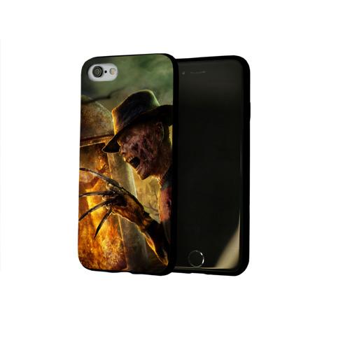 Чехол для Apple iPhone 8 силиконовый глянцевый Фредди Крюгер