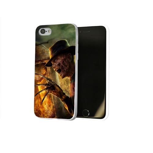 Чехол для Apple iPhone 8 силиконовый глянцевый  Фото 02, Фредди Крюгер