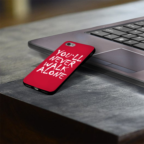 Чехол для Apple iPhone 8 силиконовый глянцевый YOU`LL NEVER WALK ALONE Фото 01