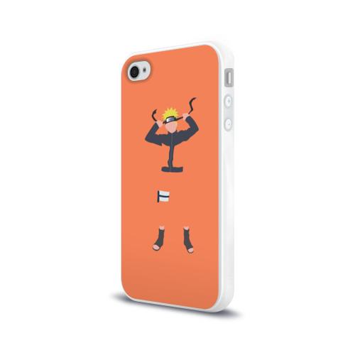 Чехол для Apple iPhone 4/4S силиконовый глянцевый  Фото 03, Наруто