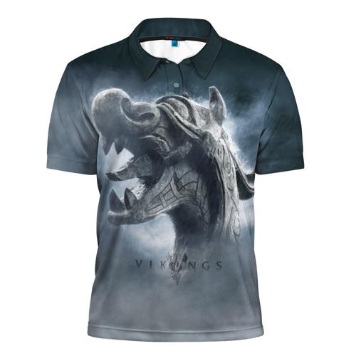 Мужская рубашка поло 3D Викинги
