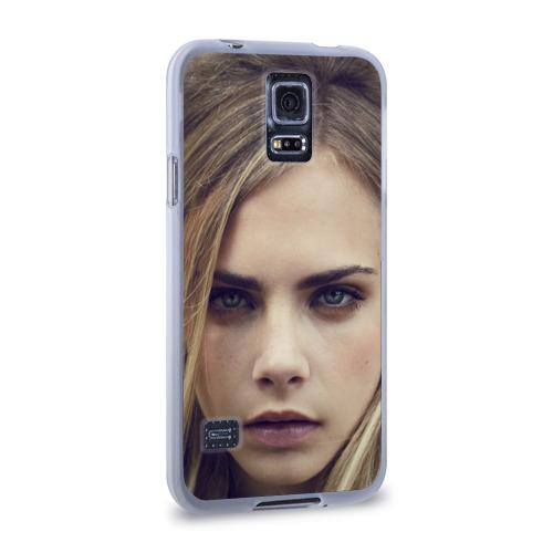Чехол для Samsung Galaxy S5 силиконовый  Фото 02, Кара Делевинь