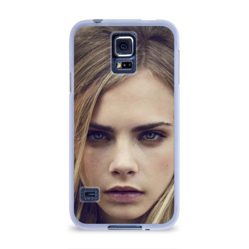 Чехол для Samsung Galaxy S5 силиконовый  Фото 01, Кара Делевинь