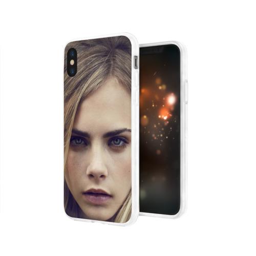 Чехол для Apple iPhone X силиконовый глянцевый  Фото 03, Кара Делевинь