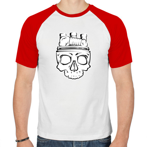 Мужская футболка реглан  Фото 01, CoilHead
