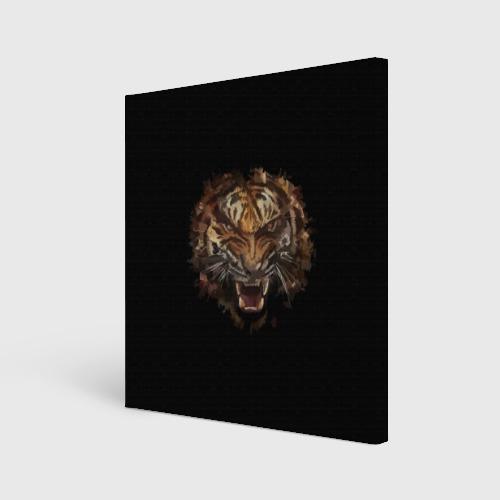 Холст квадратный  Фото 01, Тигр