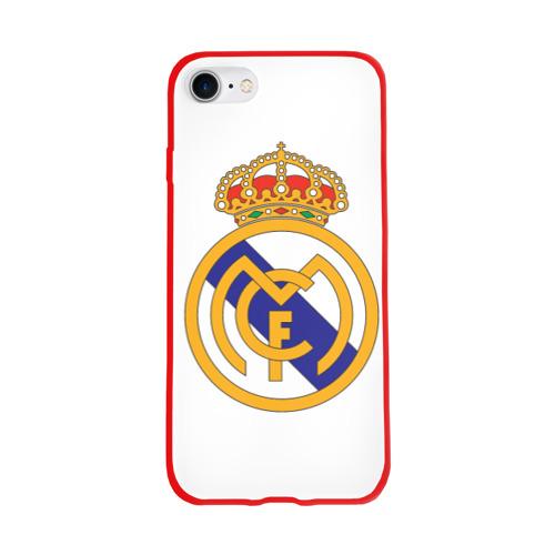 Чехол для Apple iPhone 8 силиконовый глянцевый Real Madrid