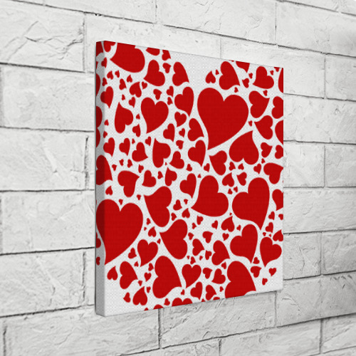 Холст квадратный Сердце