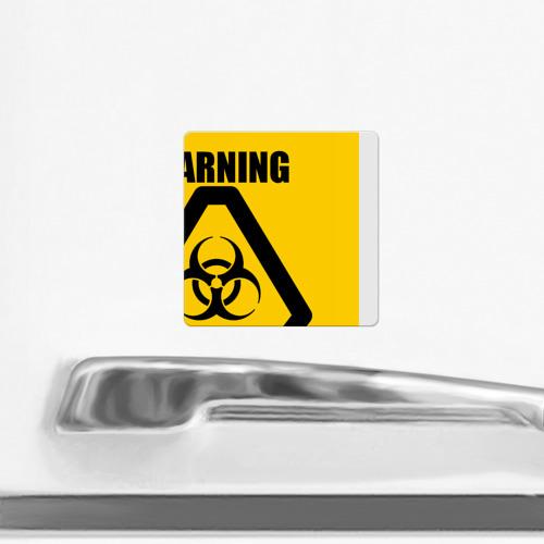 Магнит виниловый Квадрат  Фото 02, Биологическая угроза 6