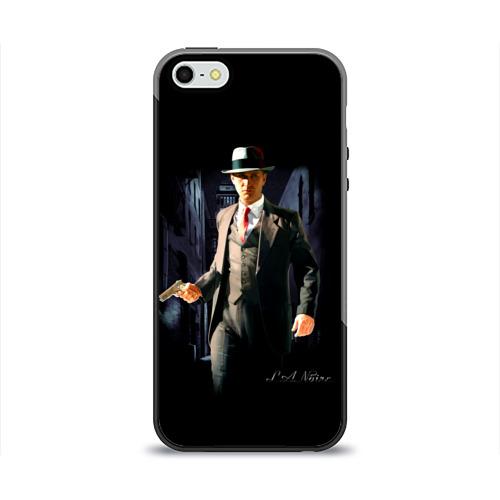 Чехол силиконовый глянцевый для Телефон Apple iPhone 5/5S L.A. Noire