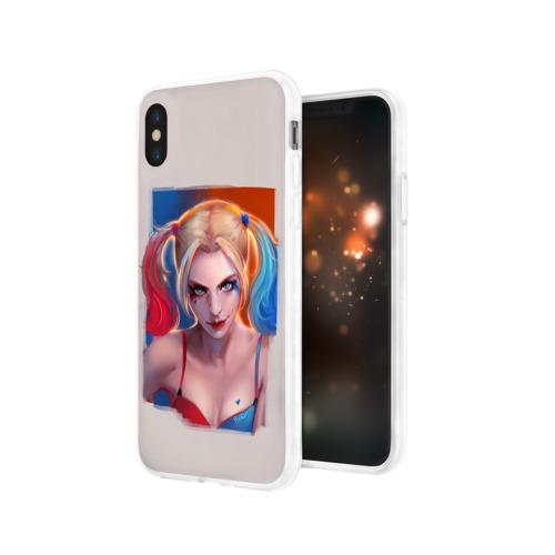 Чехол для Apple iPhone X силиконовый глянцевый  Фото 03, Харли Квинн
