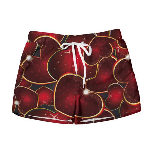 Женские шорты 3D  Фото 01, Сердце