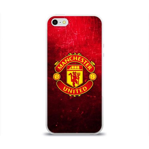 Чехол для Apple iPhone 5/5S силиконовый глянцевый Манчестер Юнайтед