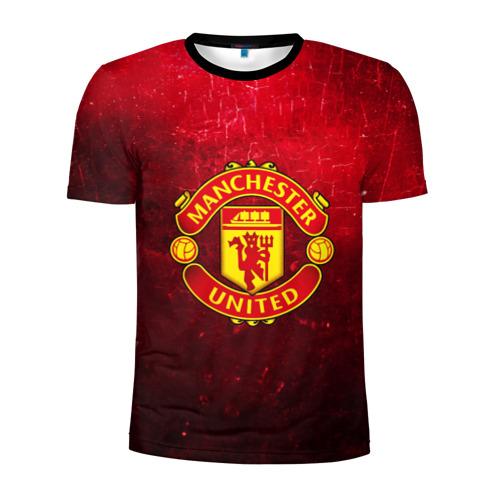Мужская футболка 3D спортивная Манчестер Юнайтед