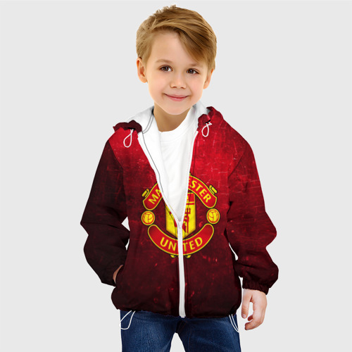 Детская куртка 3D  Фото 03, Манчестер Юнайтед
